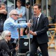 Matthew McConaughey et Martin Scorsese pendant le tournage d'une publicité Dolce & Gabbana à New York, le 13 juillet 2013.