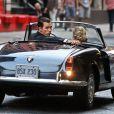 Scarlett Johansson et Matthew McConaughey sur le tournage d'une publicité Dolce & Gabbana à New York, le 13 juillet 2013.