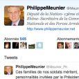 Philippe Meunier, député UMP du Rhône, n'a pas épargné Cécile Duflot après le tweet de son compagnon Xavier Cantat, le 16 juillet2013.