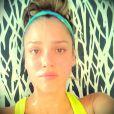 Jessica Alba a posté cette photo d'elle en train de faire du sport dans sa salle personnelle.