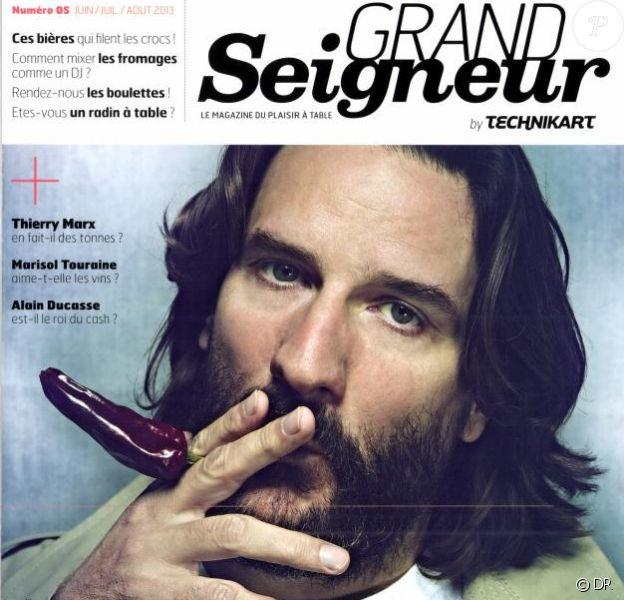 Frédéric Beigbeder en couverture de Grand Seigneur