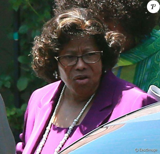 Katherine Jackson a assisté au service religieux d'une église à Woodland Hills, le 9 juin 2013.