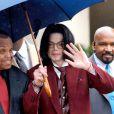 Michael Jackson à Santa Maria, le 27 avril 2005.