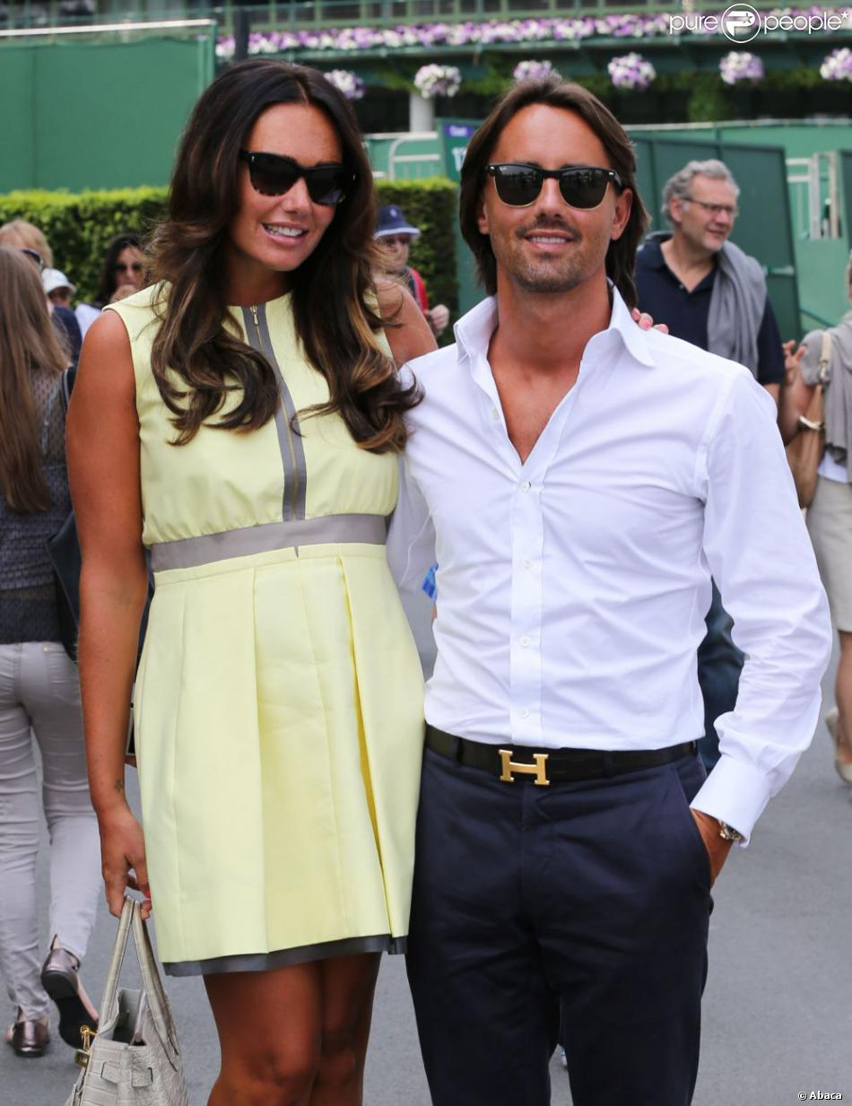 Tamara Ecclestone et Jay Rutland à Wimbledon le 5 juillet 2013