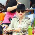 Gwen Stefani passant la journée avec ses parents et ses fils Kingston et Zuma, à Los Angeles le 20 juillet 2013.