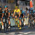 Chris Froome et ses partenaires sur la dernière étape du Tour de France le 21 juillet 2013