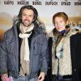 """Aymeric Caron et Natacha Polony - Avant-première du film """"Jappeloup"""" au Grand Rex à Paris le 26 février 2013."""