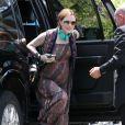 Exclusif - Evan Rachel Wood, enceinte, se rend chez des amis à Hollywood, le 1er juillet 2013.