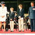 Diana, Harry, William et Charles, image d'archives.