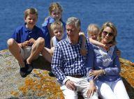 Philippe et Mathilde de Belgique : Grand bleu sur l'Île d'Yeu avec leurs enfants