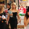 """Imogen Poots sur le tournage du film """"Squirrels To The Nuts"""" à New York, le 23 juillet 2013."""