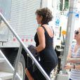 """Jennifer Aniston sur le tournage du film """"Squirrels To The Nuts"""" à New York, le 23 juillet 2013."""