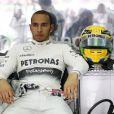 Lewis Hamilton lors du Grand Prix de Malaisie à Seypang le 24 mars 2013