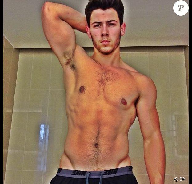 Nick Jonas torse nu sur Instagram, le 30 juillet 2013.