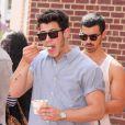 Nick Jonas dans les rues de Washington, le 28 juillet 2013.