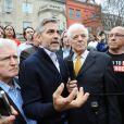George Clooney devant l'ambasade du Soudan à Washington le 16 mars 2013