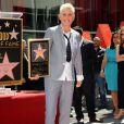 Ellen Degeneres à Hollywood, Los Angeles, avec son étoile le 4 septembre 2012.