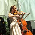 Anne Gravoin, lors du concert du 'Travelling Quartet' dans le cadre du Off du 64e Festival de Musique de Menton, dans le sud de la France le 5 août 2013.