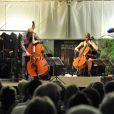 Anne Gravoin, épouse de Manuel Valls, lors du concert du 'Travelling Quartet' dans le cadre du Off du 64e Festival de Musique de Menton, dans le sud de la France le 5 août 2013.