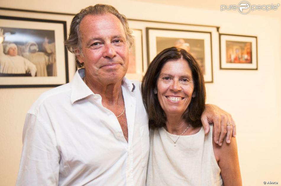Michel Leeb et sa femme Beatrice à Ramatuelle, le 5 août 2013.