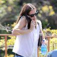 Jennifer Garner et sa fille Seraphina à Pacific Palisades, le 9 août 2013.