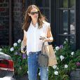 Jennifer Garner avec sa fille Violet dans les rues de Brentwood, le 9 août 2013.