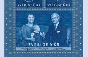 Victoria de Suède s'invite avec Estelle sur les timbres collector du roi