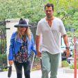 La chanteuse Fergie enceinte et son mari Josh Duhamel se rendent à l'église à Brentwood, le 4 août 2013.