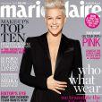Pink en couverture de Marie-Claire, édition australienne de septembre 2013.