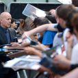 Bruce Willis à Londres le 22 juillet 2013.