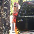 Fergie (très enceinte) à West Hollywood. Le 17 août 2013.