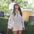 Kourtney Kardashian et son compagnon Scott Disick vont dîner à Sugarfish dans la ville de Calabasas près de Los Angeles, le 19 août 2013.