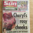Le tabloïd The Sun met les fesses de Cheryl en couverture, le 25 août 2013.