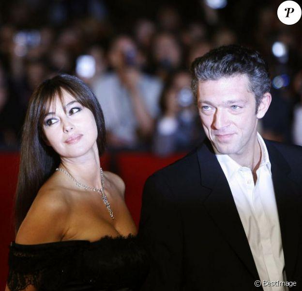 Monica Bellucci et Vincent Cassel à Rome lors du 3e Festival International du film le 23 octobre 2008.