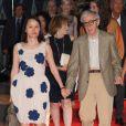 """Soon-Yi Previn et Woody Allen à la première du film """"Blue Jasmine"""" à l'UGC Bercy, Paris, le 27 août 2013."""