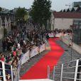 """Ambiance à la première du film """"Blue Jasmine"""" à l'UGC Bercy, Paris, le 27 août 2013."""