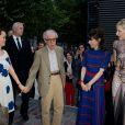 "Woody Allen, sa femme Soon-Yi, Sally Hawkins, Cate Blanchett à la première du film ""Blue Jasmine"" à l'UGC Bercy, Paris, le 27 août 2013."