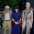 "Woody Allen, Sally Hawkins, Cate Blanchett à la première du film ""Blue Jasmine"" à l'UGC Bercy, Paris, le 27 août 2013."