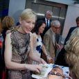 """Cate Blanchett et Woody Allen à la première du film """"Blue Jasmine"""" à l'UGC Bercy, Paris, le 27 août 2013."""
