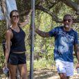 Exclusif - Christian Audigier et sa belle Nathalie Sorensen ont fait une longue marche de 25 kilomètres à travers le magnifique Canyon de Topanga, le 25 août 2013.
