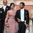 Le prince Carl Philip de Suède et Sofia Hellqvist - Mariage de Gustaf Magnuson (fils de la soeur du roi Carl XVI Gustaf de Suède) et Vicky Andren au château d'Ulriksdals à Stockholm, le 31 août 2013.