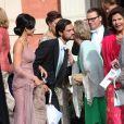 Le prince Carl Philip de Suède, Sofia Hellqvist, la reine Sonja de Norvège, la reine Silvia de Suède - Mariage de Gustaf Magnuson (fils de la soeur du roi Carl XVI Gustaf de Suède) et Vicky Andren au château d'Ulriksdals à Stockholm, le 31 août 2013.