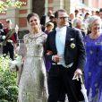 La princesse Victoria de Suède et le prince Daniel de Suède - Mariage de Gustaf Magnuson (fils de la soeur du roi Carl XVI Gustaf de Suède) et Vicky Andren au château d'Ulriksdals à Stockholm, le 31 août 2013.