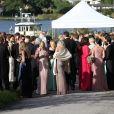 Mariage de Gustaf Magnuson (fils de la soeur du roi Carl XVI Gustaf de Suède) et Vicky Andren au château d'Ulriksdals à Stockholm, le 31 août 2013.