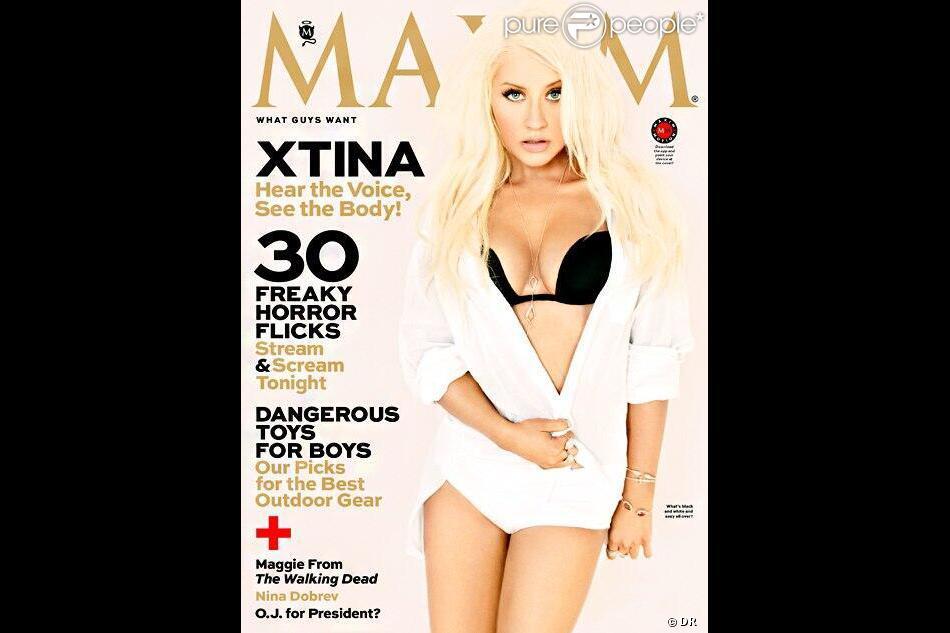 Christina Aguilera en couverture de Maxim, octobre 2013.