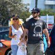 Christina Aguilera en sortie avec Max et son ex-mari Jordan Bratman à Los Angeles, le 11 août 2013.
