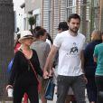 Christina Aguilera et Matthew Rutler à Los Angeles,  le 18 août 2013.