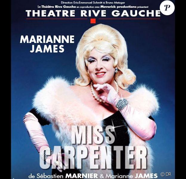 Marianne James dans Miss Carpenter, au théâtre Rive Gauche à Paris dès le 12 septembre 2013.