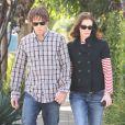 Julia Roberts et son mari Daniel Moder à Santa Monica, le 16 février 2013.
