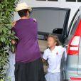 Halle Berry, enceinte et accompagnée sa fille Nahla à Beverly Hills, le 9 septembre 2013